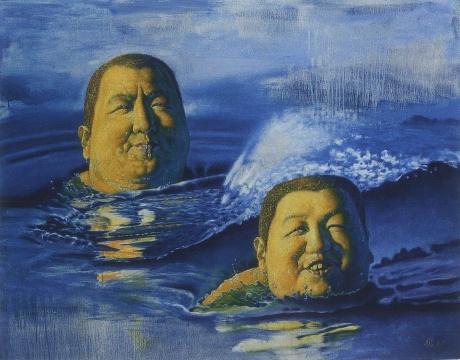 施本铭 《岳家父子》 114×146cm 油画 1997