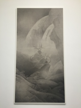 《蛇盘兔》 244×126cm 宣纸水墨 2015