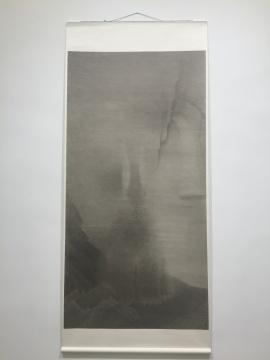 《兔问》 240×122cm(画芯) 宣纸水墨 2015