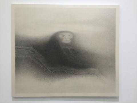 《树上的老猿》 136×152cm 宣纸水墨 2016