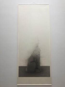 《侧立的兔子》 288×137cm(画芯) 宣纸水墨 2016