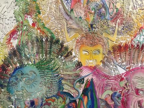 前波画廊第五次邬建安个展开幕 对个体与整体关系的恢弘阐释