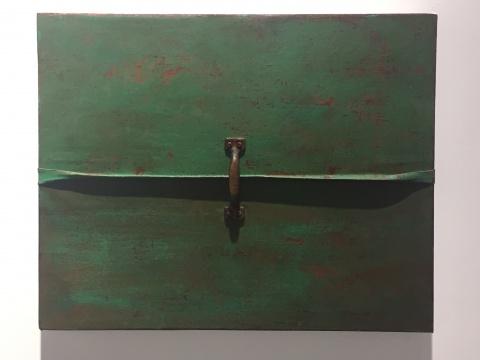 《错位-折叠3》 40×50cm 布面综合材料 2016