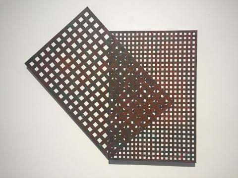 《错位-重叠》 108×120cm 布面综合材料 2016