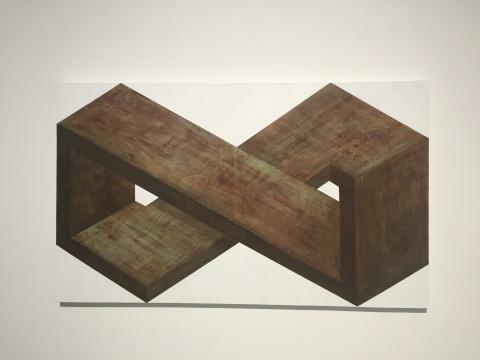 《矛盾体9》 90×150cm 布面综合材料 2016
