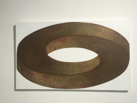 《矛盾体10》 90×150cm 布面综合材料 2016