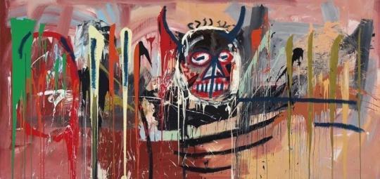 巴斯奎特《无题》,前泽友作以5728.5万美金购得,这件作品也打破了巴斯奎特的市场纪录(©2016纽约佳士得)