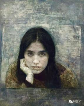 Lot 19何多苓 《小翟的肖像》 100×80cm 布面油画 1997 估价:150万-200万元(©当代)