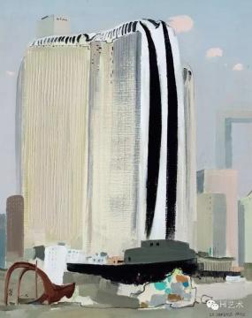 Lot125 吴冠中 《新巴黎》 91×73cm 布面油画 1989  估价:1000万-1500万元(©夜场)