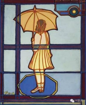 严力 《窗外》 82×67cm 布面油画 1981  估价:20万-30万元(©85美术)