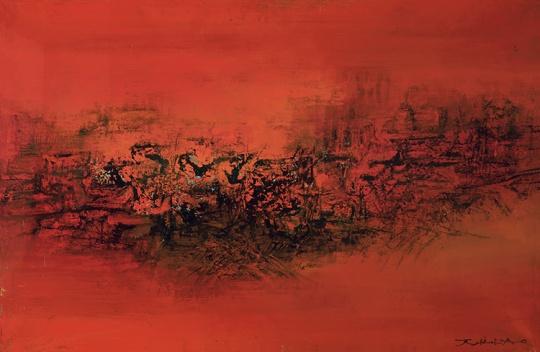 赵无极《5.12.61》 60×92cm 布面油画 1961 成交价:2070万元