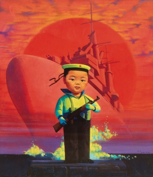 刘野《小海军》 105×91cm 布面油画 2000 流拍