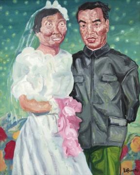 刘炜《我的父亲母亲》 104×84cm 布面油画 1993 成交价:713万元