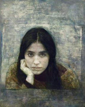 何多苓 《小翟的肖像》 100×80cm 布面油画 1997 成交价:345万元