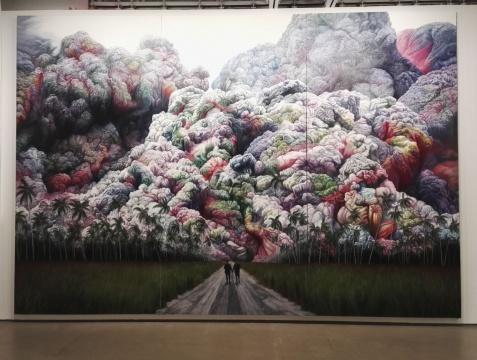 商成祥《云途系列之三》 350×510cm 布面油画 2014