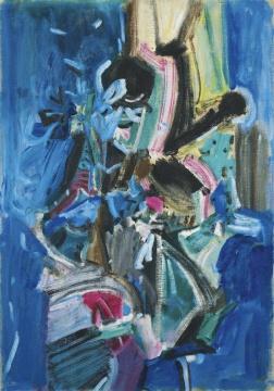 吴大羽《无题14》75.8×53cm油画画布1980成交价:1808万港币刷新艺术家拍场纪录