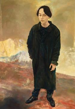 毛焰《伫立的青年》200×140cm布面油画1993成交价:944万港币由龙美术馆收藏