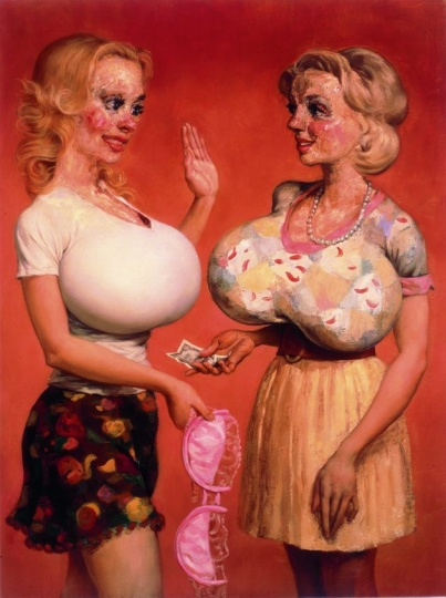 John Currin 《Jaunty and Mame》