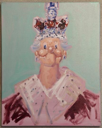 乔治·康多《女王的梦与噩梦》50.8×40.6cm 布面油画 2006