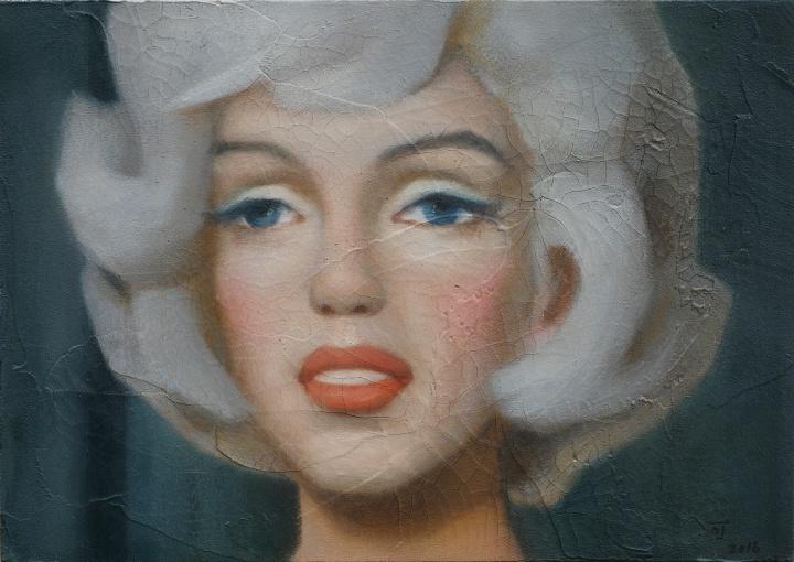 陈可《1962·洛杉矶·36岁》 木板油画 26x36.5cm 2016 Courtesy Galerie Perrotin
