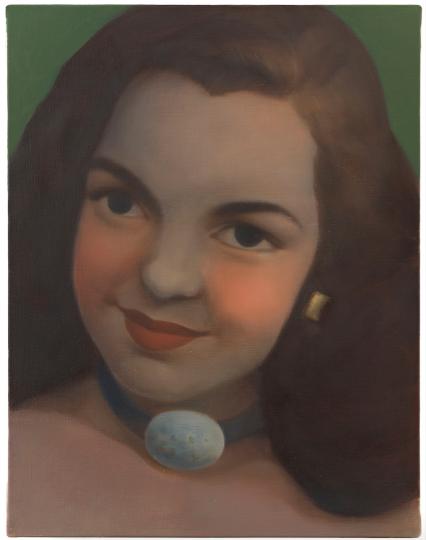 陈可《1944·洛杉矶·18 岁》 41x32cm 布面油画2016摄影:杨超工作室Courtesy Galerie Perrotin