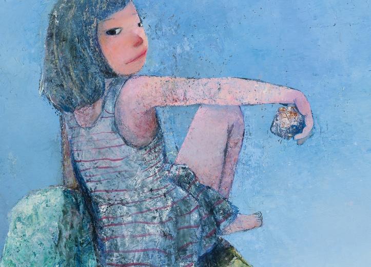 """Hi艺术中心忻洛汀个展""""一花一世界"""",一如以往的天真烂漫,谁说年龄的成长一定要走向心灵的成熟。"""