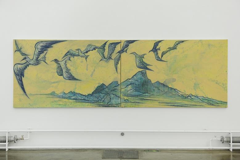 索卡艺术中心毛旭辉个展,新作《归来》以昆明翠湖红嘴鸥入画,除了对至亲不变的思念,情感激发的力量也重新回归。