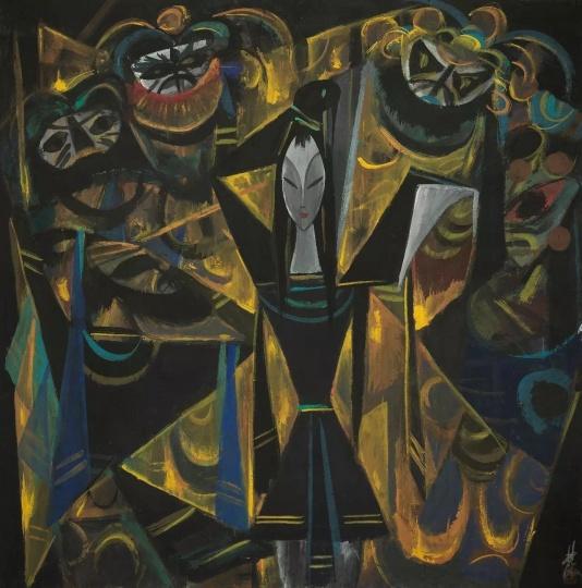 林风眠 《宝莲灯》纸本设色 66×65cm 1950年代