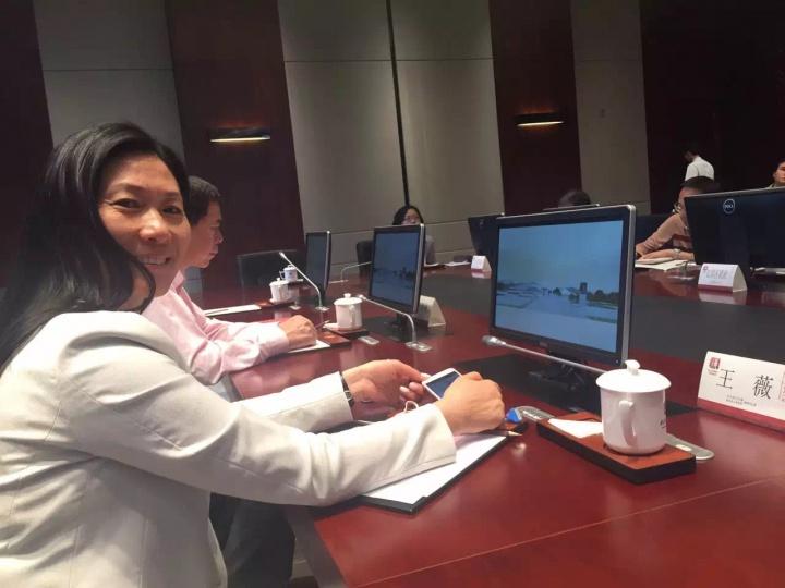 参加龙美术馆武汉馆规划会议的王薇