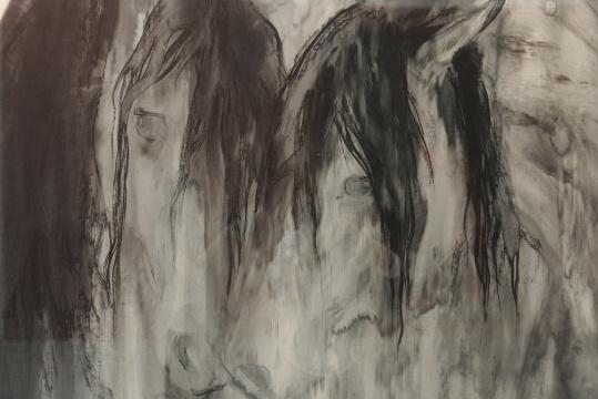 """彭剑、孙浩双个展艾米李画廊开幕 新水墨""""逆光""""下的""""夜奔"""""""