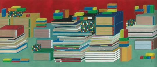 《十里远》纸本设色 80×183cm2016