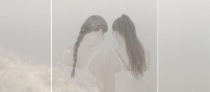 《背光》70 x 160cm 绢本水色 2015