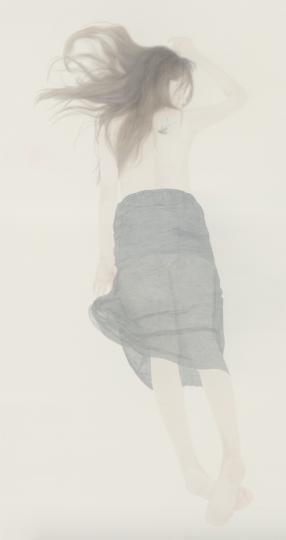 《若轻4》240 x 130cm 绢本 水色 2016