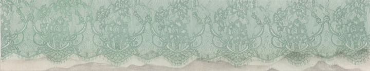 《丝图6》 29 x 150cm 绢本 水色 2015