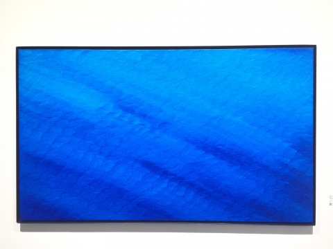 《证悟·蓝NO.24》 106×180cm 布面油画 2016