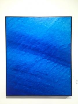 《证悟·蓝NO.25》 120×100cm 布面油画 2016