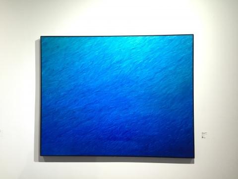 《证悟·蓝NO.29》 125×160cm 布面油画 2016