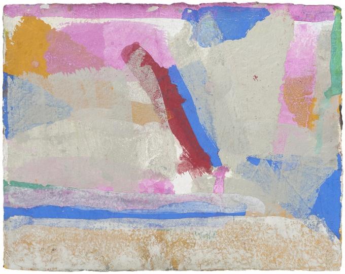 《无题2015zb1》 35x45cm 矿物色粉、手工纸 2015