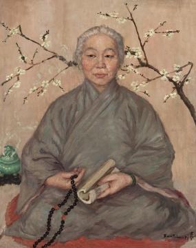方君璧 《卫月朗》 92×73.2cm 布面油画 1925  估价:450万-550万元