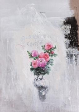 刘炜 《花》 235×167cm 布面油画 2003  估价:260万元-300万元
