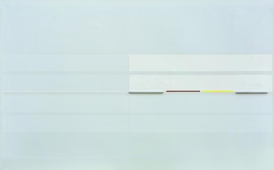 林寿宇 《平行式》 76×122cm 铝、油彩画布  估价:200万-260万元