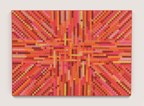 丁乙 《十示07-9》 199.5×280.4cm 布面丙烯 2007  估价:230万-280万元