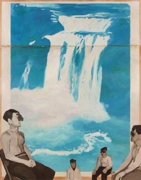 仇晓飞 《三千尺》 200×250cm 布面油画 2009  估价:120万-150万元