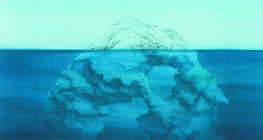 徐累 《气与骨—云林石》 104×195cm 绢本水墨 2013  估价:300万-380万元