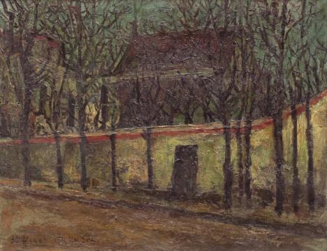 刘海粟 《巴黎之冬》 46×60cm 布面油画 1931  估价:100万-150万元