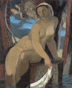 让·苏弗尔皮 《泉边的裸女》 65×55cm 布面油画 1947  估价:180万-220万元