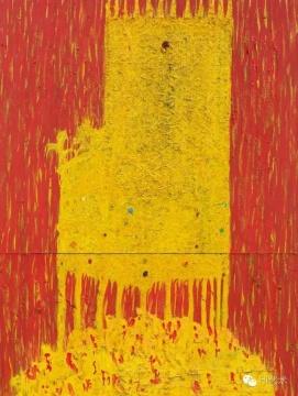 Lot 2845 欧阳春 《国王山之二》 220×130.5cm 布面油画 2009  估价:50万-80万元