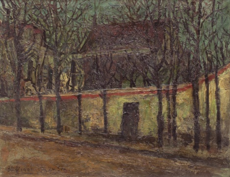 Lot 2608 刘海粟 《巴黎之冬》 46×60cm 布面油画 1931  估价:100万-150万元