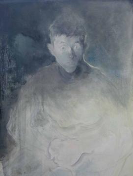 Lot 2742 毛焰 《肖像》 110×75cm 布面油画 2012  估价:100万-130万元