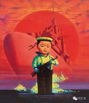 刘野《小海军》 105×91cm 布面油画 2000 估价:1200万至1800万元 中国嘉德2016春拍 流拍